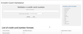 Credit Card Online discover visa Best Amxe mastercard Validator And More Many Number Support -