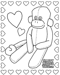 Sock Monkey Coloring Page 29974