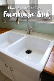 Installing An Ikea Farmhouse Sink Apron Front Sink Sinks And Apron Farmhouse Sink Ikea