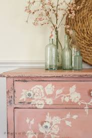 floral painted furniture.  painted pink floral hand painted dresser in floral painted furniture
