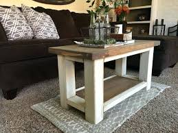 chunky farmhouse coffee table rustic tables full diy square