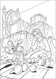 Prinses Belle En Kerstballen Kleurplaat Gratis Kleurplaten Printen