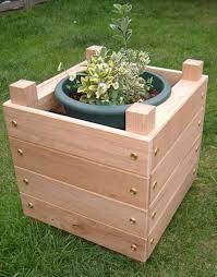 small wooden planter box