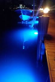 nighttime security with water world led s 15 000 lumens underwater dock lighting kit