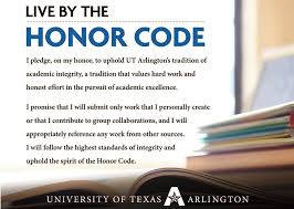 academic integrity student conduct ut arlington take the pledge