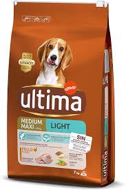 Ultima Croquettes Light Pour Chiens Medium Maxi Au Poulet 7kg