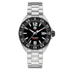 tag heuer watches quality swiss watches ernest jones watches tag heuer f1 men s stainless steel bracelet watch product number 2378701