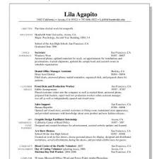 Cover Letter Example Resume For Job Resume Example For First Job