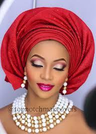 nigerian wedding orange makeup photo 1