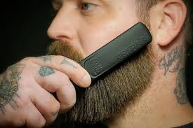how to straighten your beard with a