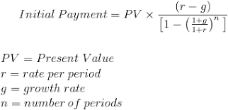 Growing Annuity Payment Pv Formula With Calculator