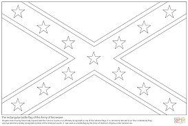 Confederate Soldier Coloring Sheet With Confederate Flag Coloring