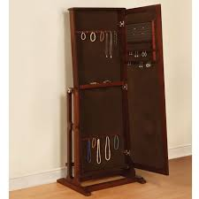 fascinating the free standing mirrored jewelry armoire hammacher schlemmer free standing jewelry armoire mirror
