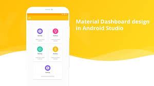 Material Home Page Design (Dashboard) in android studio - YouTube