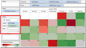 Calendar Chart In Tableau Calendars In Tableau Tableau Dashboard Calendar Crystal