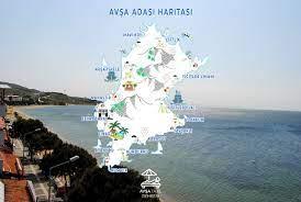 Avşa Adası Harita