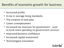 the business cycle and economic growth  4 benefits of economic growth
