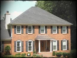 home improvement design. Impressive Array Of Moire Black Shingles For Exterior Ideas Home Improvement Design With Aso Red Brick
