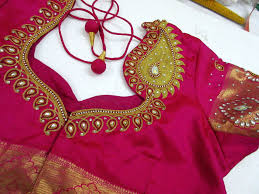 Full Embroidery Blouse Designs Kundan Work Hand Embroidery Embroidery Blouse Designs