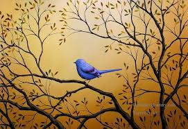 4 lonely night blue bird