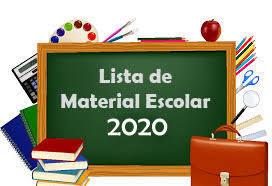Resultado de imagem para lista de materiais 2020