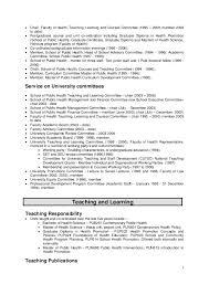 Lecturer CV Sample VisualCV
