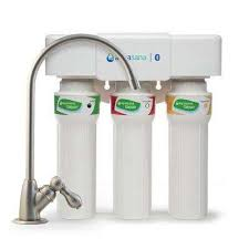 3 stage max flow under counter water filtration system with faucet in brushed nickel