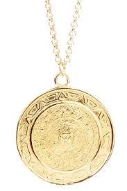 image of vivian tamayo mayan calendar medallion pendant necklace