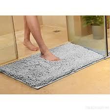soft gy non slip bath mats microfiber chenille bathroom rugs anti slip shower water absorbent