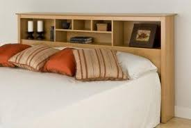King size headboard with shelves
