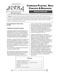Flower Companion Planting Chart Companion Planting Basic Concepts Resources