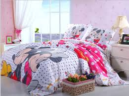 girl 3d mickey minnie mouse bedding set egyptian cotton single twin full queen dot doona bedroom sets bed sheet duvets comforter high quality comforter ma