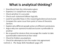 Critical Thinking Skills Sara Steinke Ppt Download