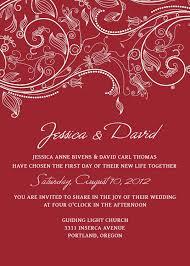 Wedding Invitation Templates Psd Photoshop Red Crimson