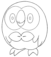 Small Picture Coloring page Pokemon Sun and Moon Rowlet 11