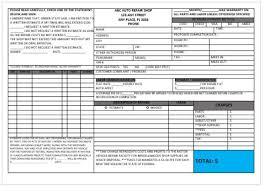 garage invoice template garage repairs invoice template garage invoice template pinterest