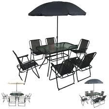 8pc garden patio set 6 recliner chairs