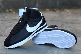 nike shoes white and black high top. 2016 latest nike classic cortez high tops mens sneakers black white on sale shoes and top