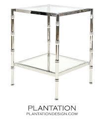 sidetables nickel side table plantation hammered