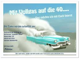 Einladungskarte Mit Vollgas Schnelles Auto