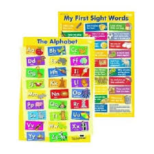 Alphabet My First Sight Words Double Sided Wall Chart
