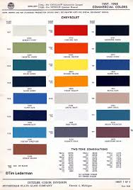 1955 chevy original paint colors free