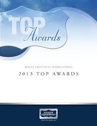 Realty Executives International 2013 Top Awards by Realty Executives  International - issuu