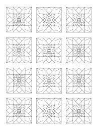 Small Picture Coloring Book of Quilt Blocks and Designs