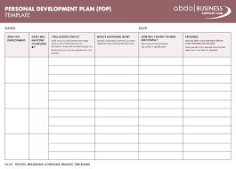 personal plan template personal development plan template abdo