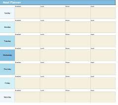 011 Food Plan Template Excel Ideas Wonderful Meal Free