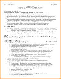 Resume Qualifications Summary 100 examples of summary of qualifications precis format 63