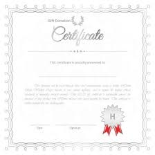 Donation Certificate Template Custom 44 Printable Donation Certificates Templates