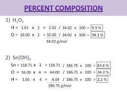 Molar Mass & Percent Composition. The mass of 1 mole of an element ...