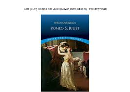 Best [TOP] Romeo And Juliet Dover Thrift Editions Free Download Best Romeo And Juliet Best Images Download